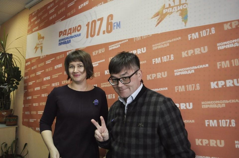 Мария Видмак, зам.директора Удмуртской филармонии и Алексей Фомин, директор Удмуртской филармонии