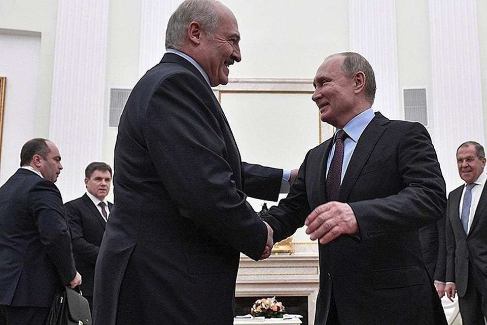 Путин поздравил Лукашенко по случаю Дня единения народов двух стран