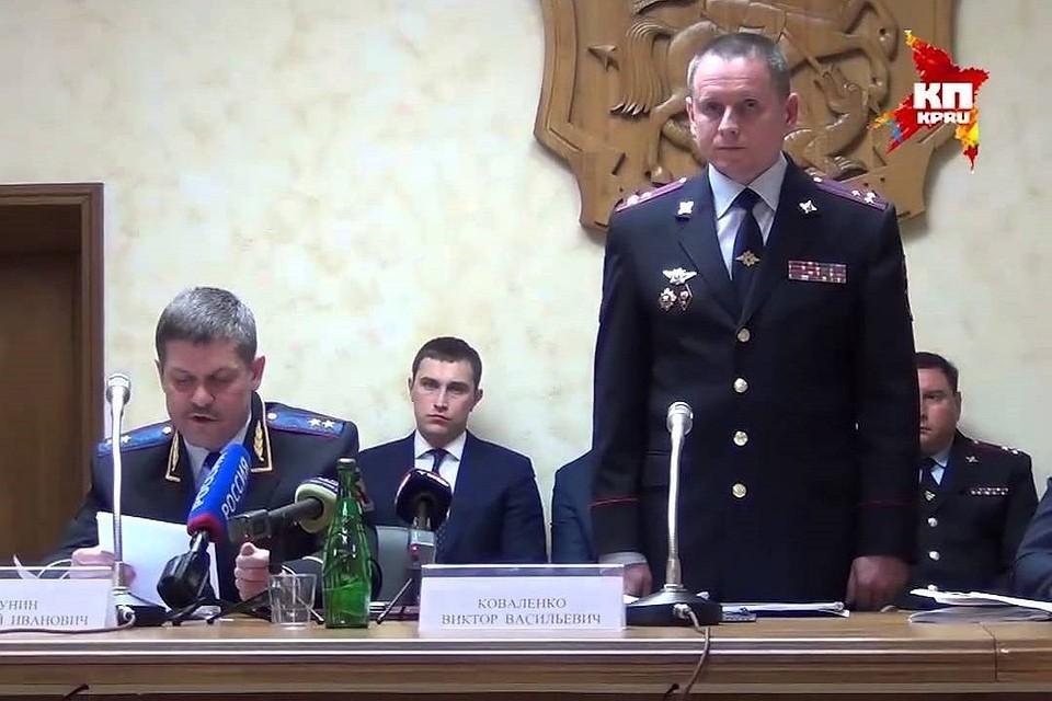 Виктор Коваленко подал рапорт об уходе по собственному желанию