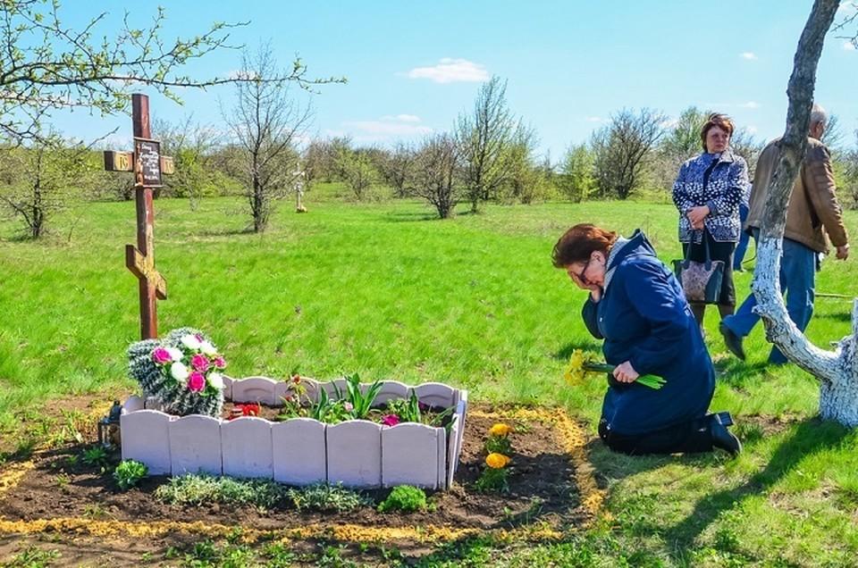 Вера Николаевна побывала и на месте гибели своего сына. Там она не удержала материнские слезы. Фото: «Донецкая Республика». Фото: