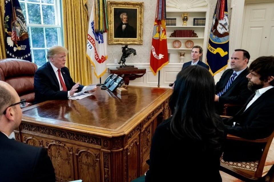 Встреча Дональда Трампа с Джеком Дорси в Белом доме. Фото: Twitter/realDonaldTrump