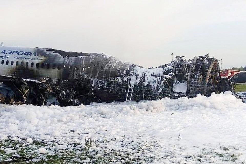 «Суперджета-100» 5 мая сгорел при посадке в Шереметьево