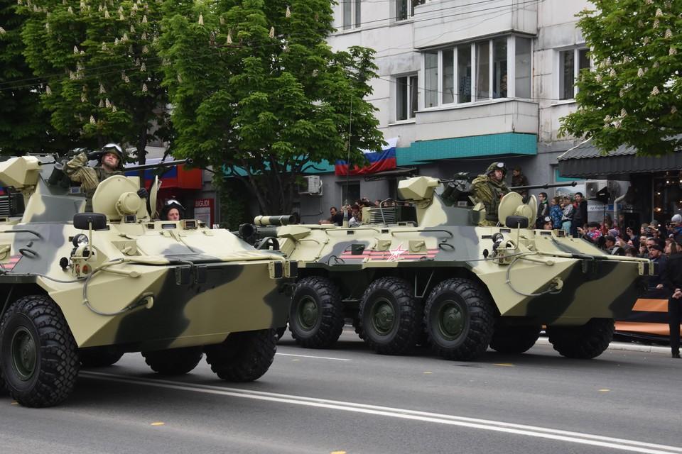 Парад в Симферополе начался в 10.00.