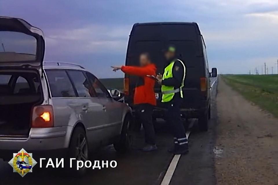Пьяный водитель под Гродно протаранил другое авто из мести. Фото: ГАИ Гродно