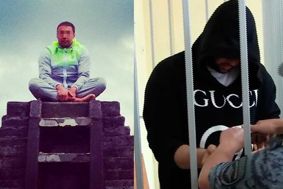 Андрей на суде прятал свое лицо, но до задержания активно делился своими фотографиями