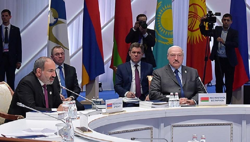 Александр Лукашенко участвует в юбилейном заседании Высшего Евразийского экономического совета в Нур-Султане. Фото: president.gov.by.