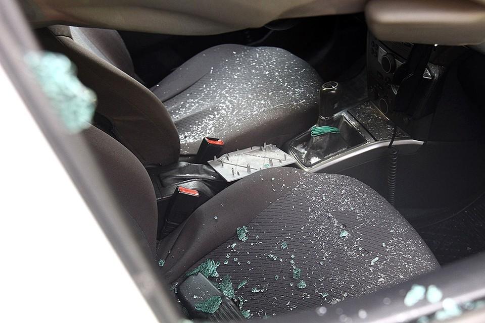 Автомобиль был поврежден в четырех местах