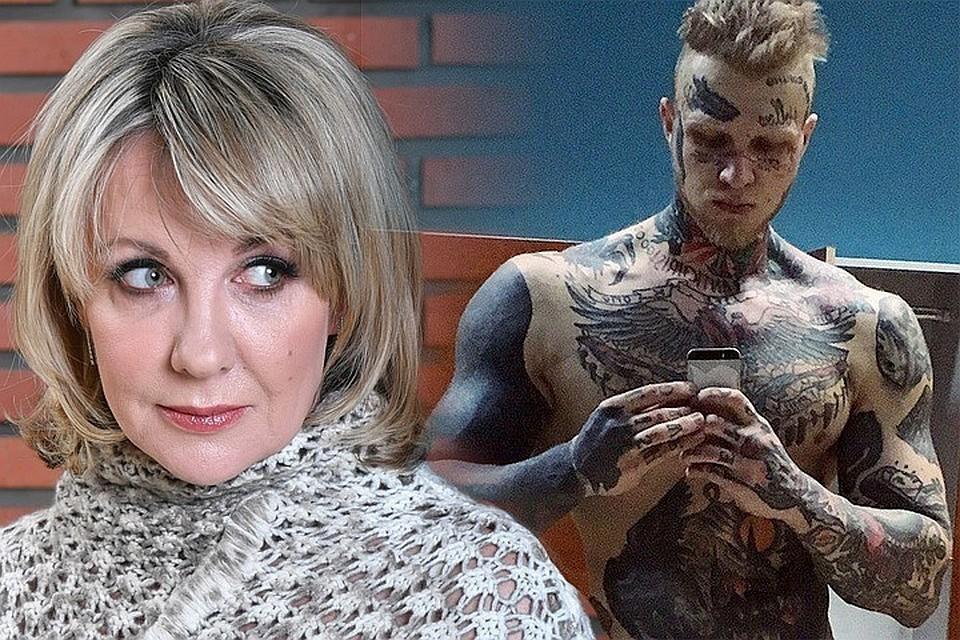 Денис Шальных, чье лицо обильно украшено татуировками, не менее популярен, чем его мать.Елена Яковлева