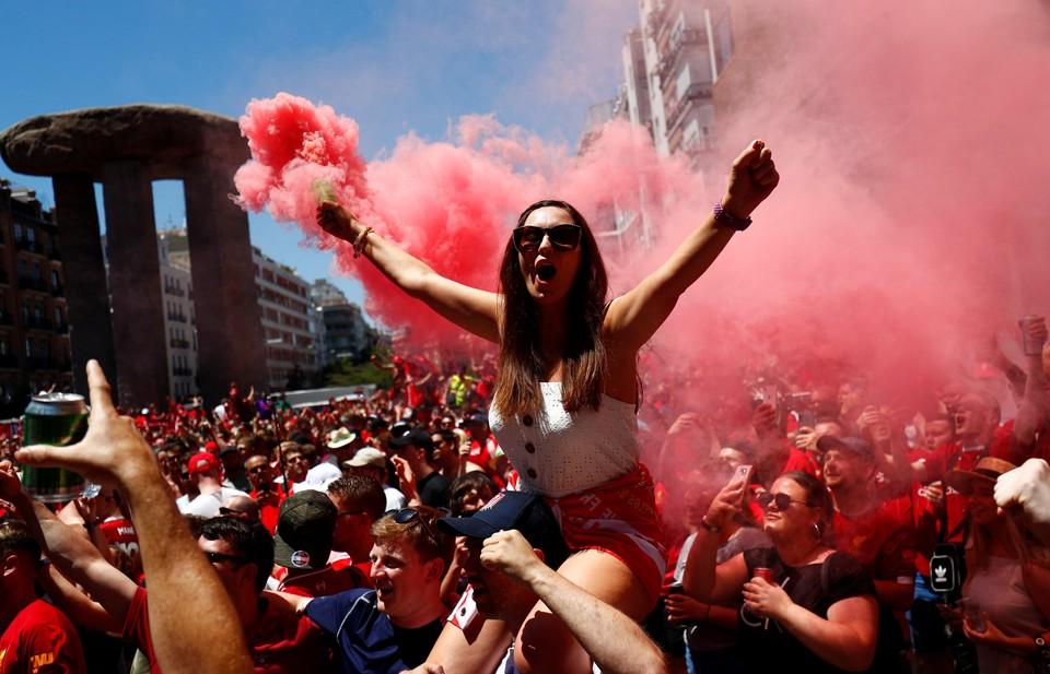 Перед финалом Лиги Чемпионов в Мадриде - очень жаркая обстановка!