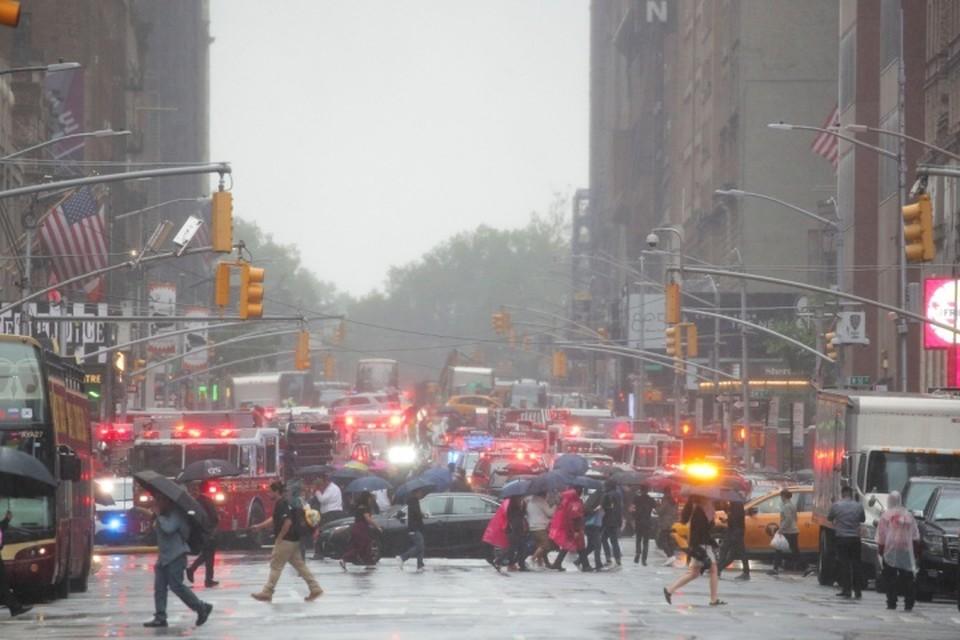 ЧП с вертолётом в Нью-Йорке