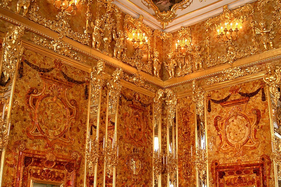 Ученые уверены: от первозданной красоты оригинальной Янтарной комнаты уже почти ничего не осталось. Фото: Wikipedia