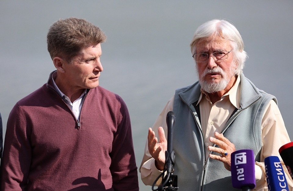 Олег Кожемяко и Жан-Мишель Кусто. Фото: Глеб Ильинский