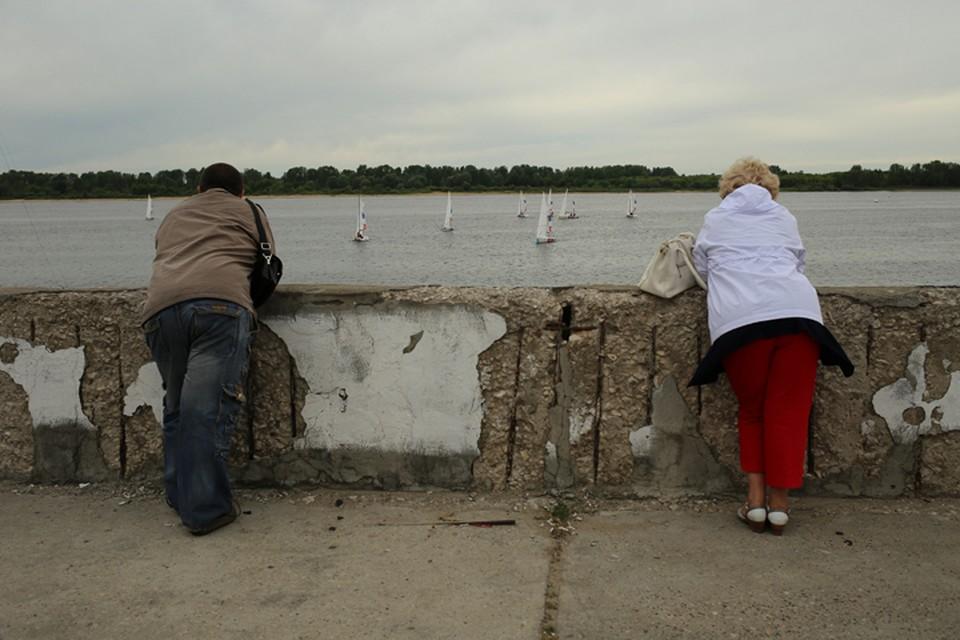 Уровень воды в Волге упал до критических отметок