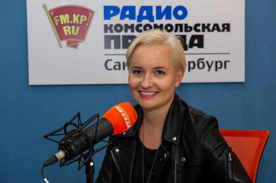 Мария Сёмушкина в студии радио «Комсомольская Правда в Петербурге»
