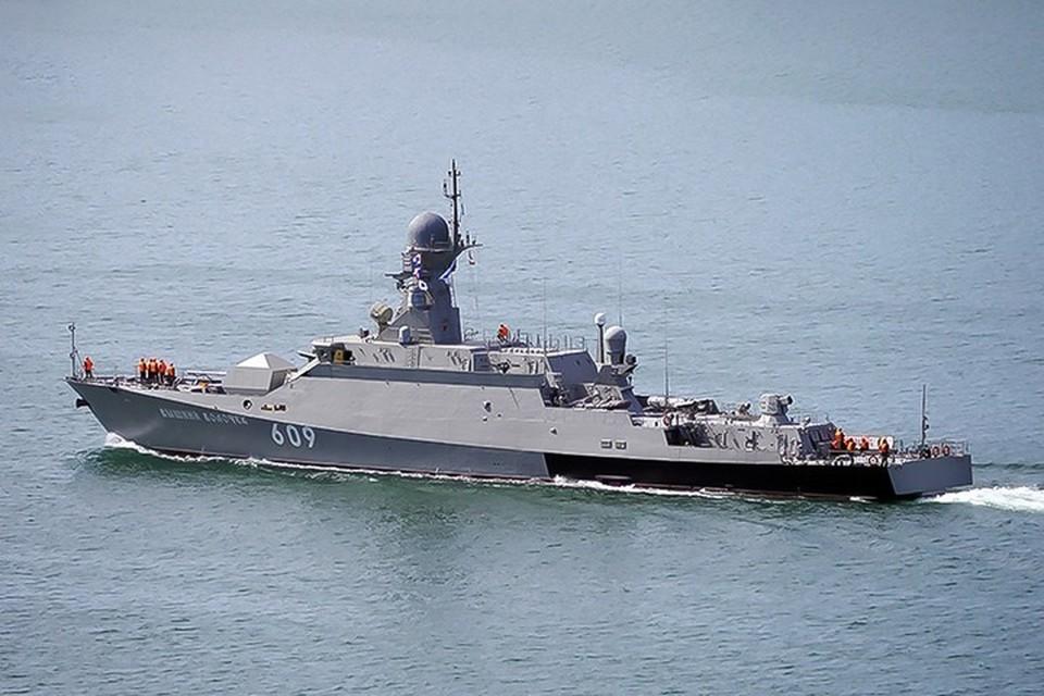 Современные корабли ЧФ контролируют силы НАТО. Фото: пресс-служба Черноморского Флота