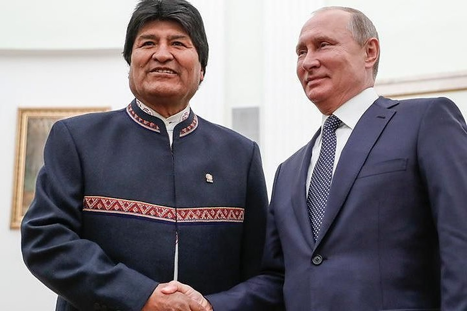 Эво Моралес и Владимир Путин. Фото: ТАСС/Михаил Метцель