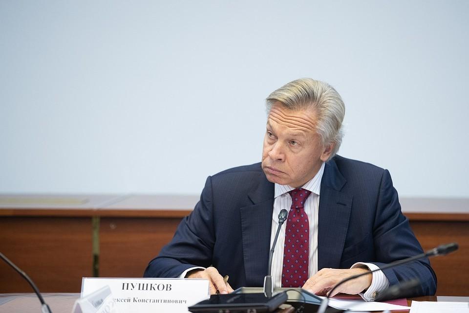 Глава комитета Совета Федерации по информационной политике Алексей Пушков