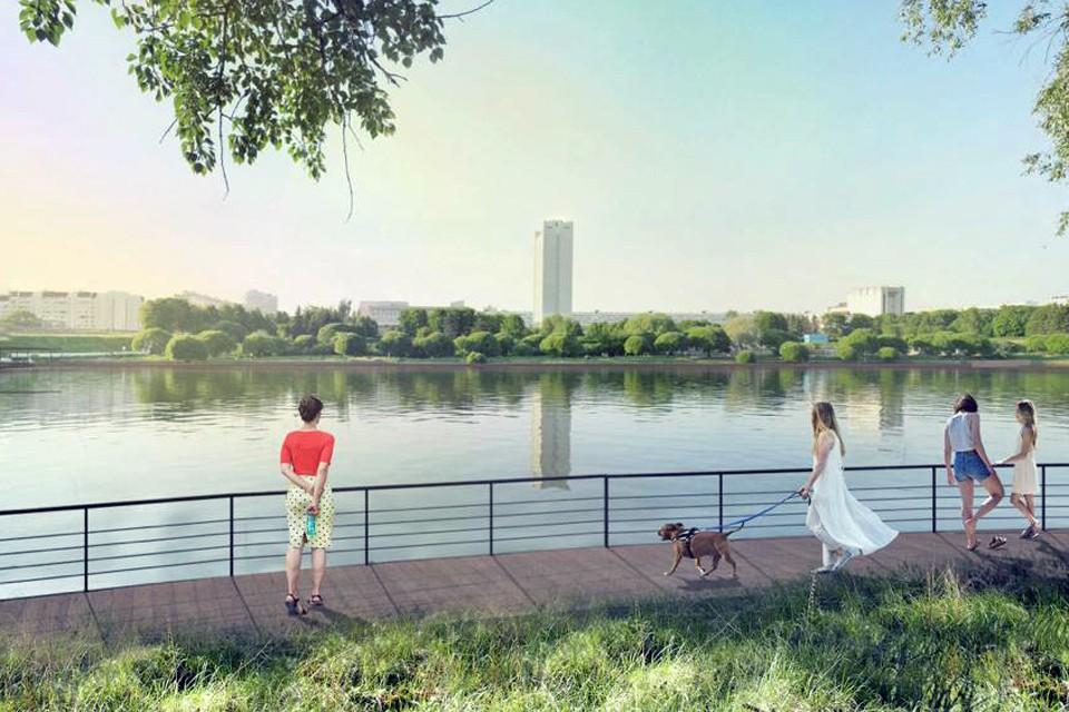 В Зеленограде вокруг Большого городского пруда построят удобную набережную. Фото mos.ru