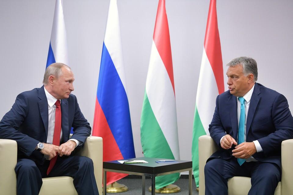 Владимир Путин и Виктор Орбан (справа). Фото: Алексей Дружинин ТАСС