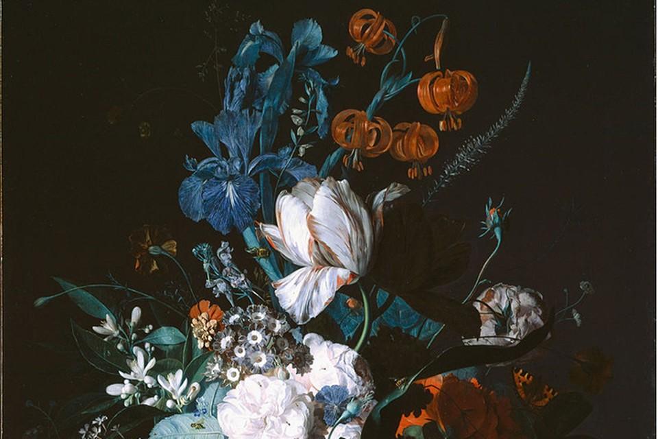 Фрагмент картины «Ваза с цветами»