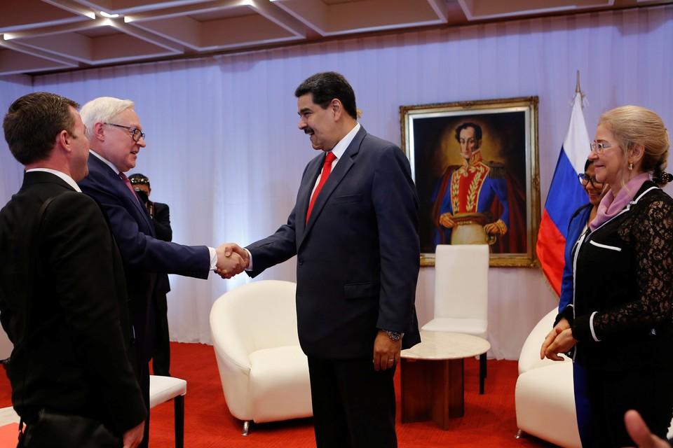 Заместитель главы МИД России Сергей Рябков и президент Венесуэлы Николас Мадуро