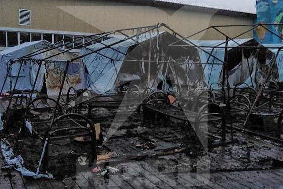 Задержан директор лагеря в Хабаровском крае, в котором при пожаре погибло трое детей. Фото: предоставленною очевидцем