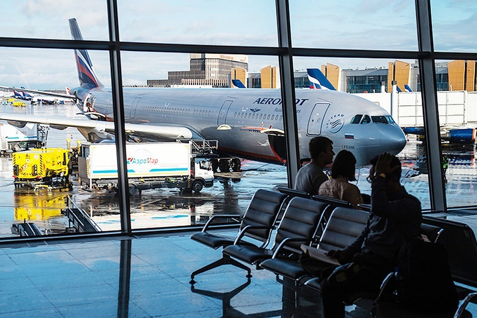 Самолет направляется в сторону Осло