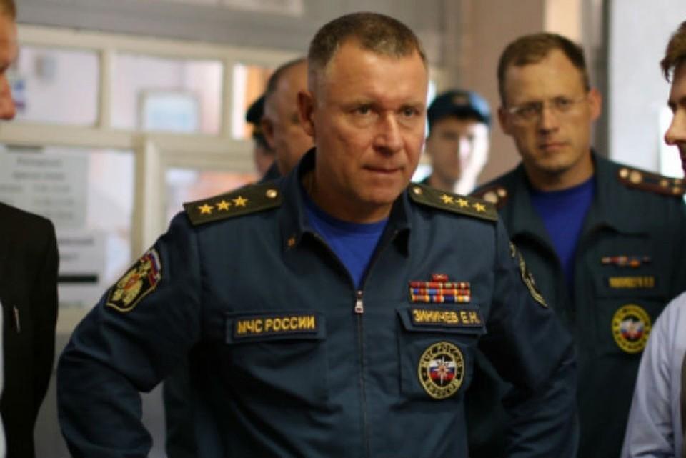 Министр МЧС России Евгений Зиничев. Фото: ГУ МЧС России по Иркутской области.