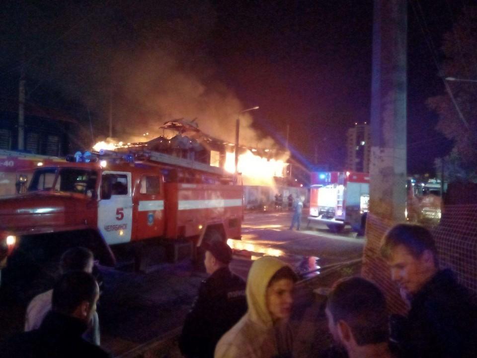Пожар в доме на Труда, 56.