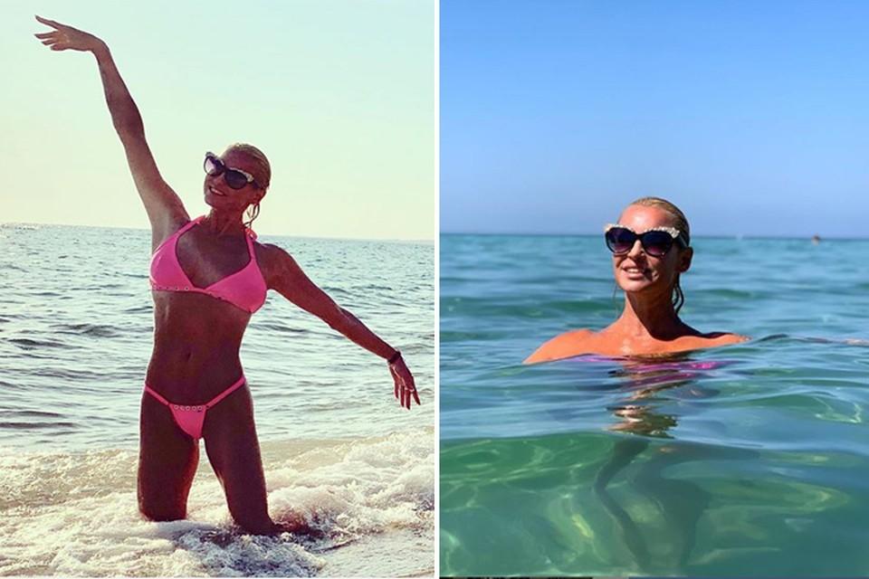 Анастасия Волочкова отдыхает в Греции. Фото: Инстаграм.