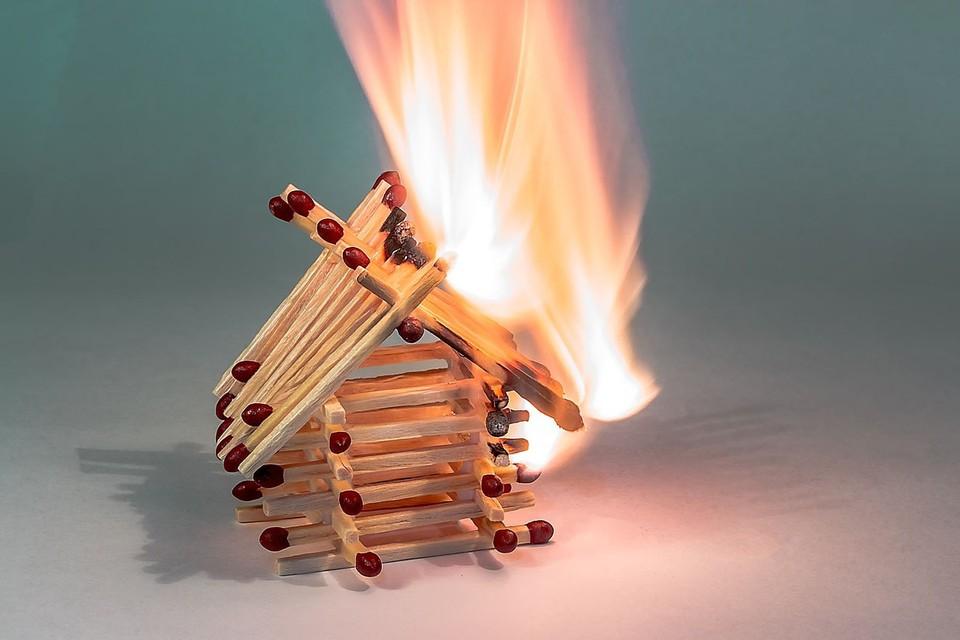 Пожар, спички.