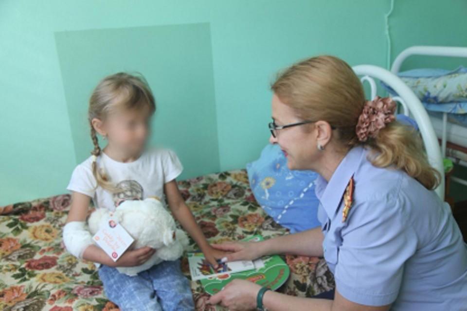 Спасенная 5-летняя Зарина Авгонова почти не разговаривает. Фото: СУСК по Нижегородской области