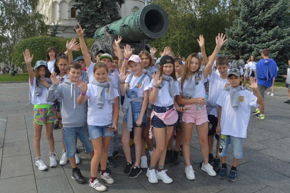 Иркутские дети, пострадавшие от наводнения, в Кремле