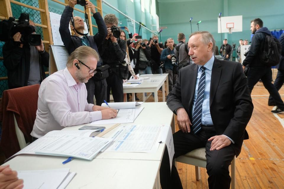 Врио губернатора Александр Беглов набрал 64,45%