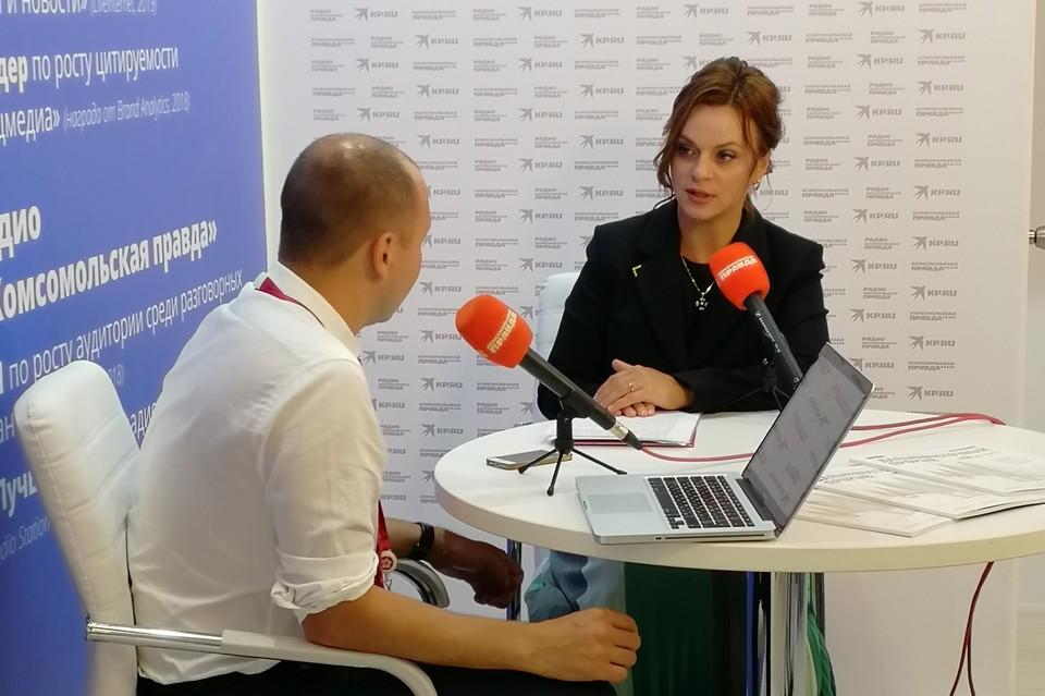 Председатель совета директоров «Колмар Груп» Анна Евгеньевна Цивилева в открытой студии «КП» на Восточном экономическом форуме.