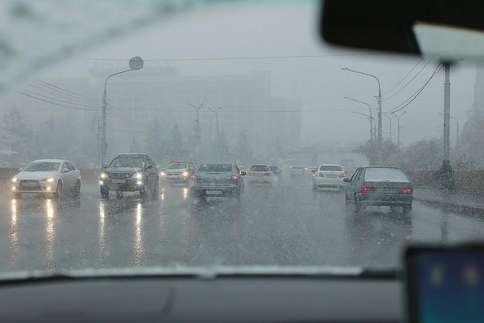 ГИБДД предупредила красноярцев о плохой видимости и затяжном дожде