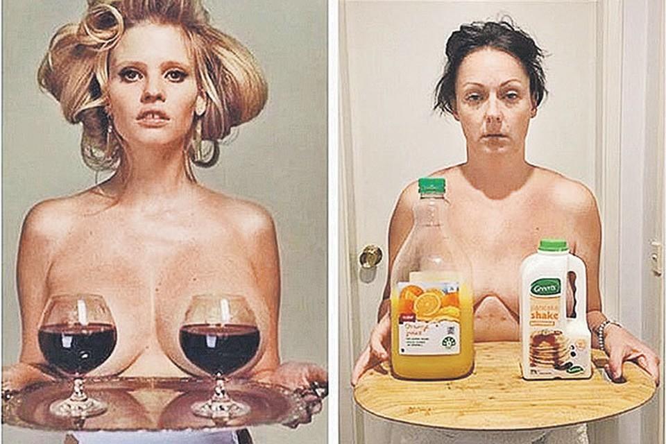 «Просто сравни, - предлагает Селеста, - вечер пятницы против утра понедельника!». Кстати, с бокалами - Лара Стоун, голландская супермодель. Фото: instagram.com instagram.com