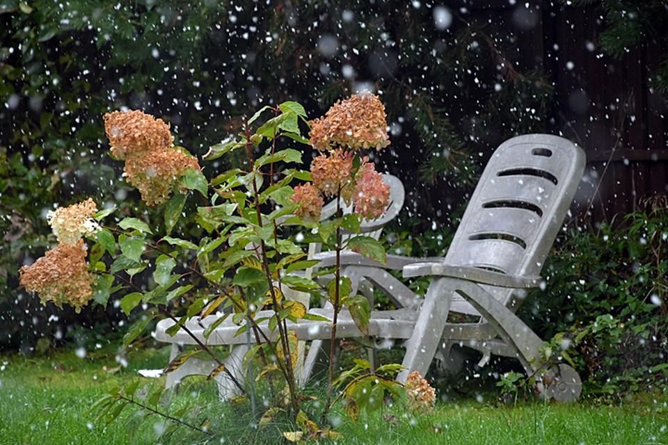 На улице мокро, ветрено и довольно прохладно, но зато красиво