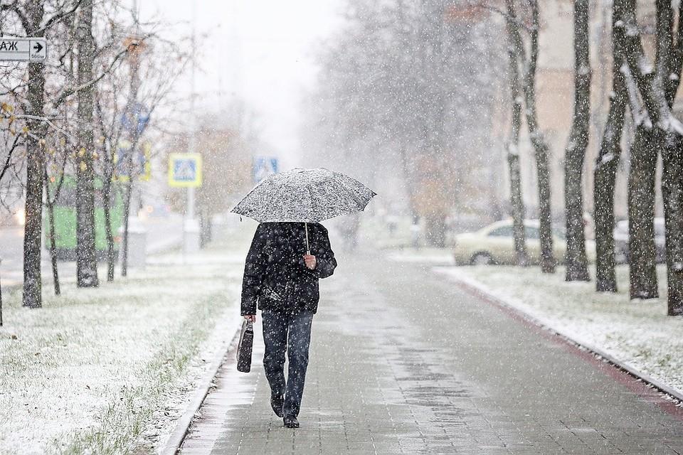 7 октября в Беларуси выпал снег!