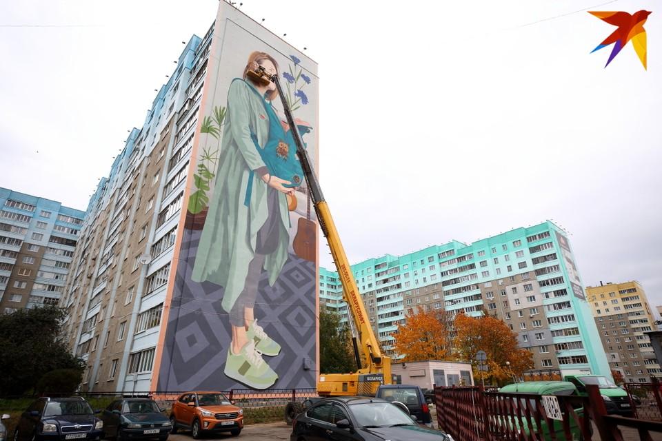 Сербский художник Artez изобразил современную белорусскую девушку.