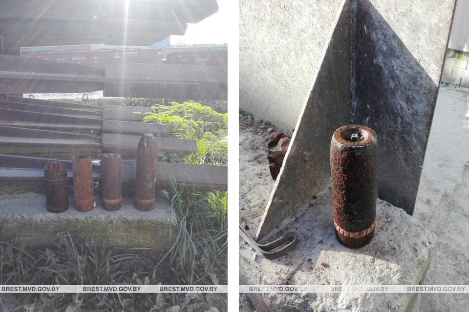 На Брстчине продолжают находить снаряды времен ВОВ. Фото: УВД Брестского облисполкома.