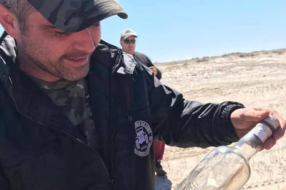 Бутылку нашли на одном из бразильских пляжей рядом с уругвайской границей.