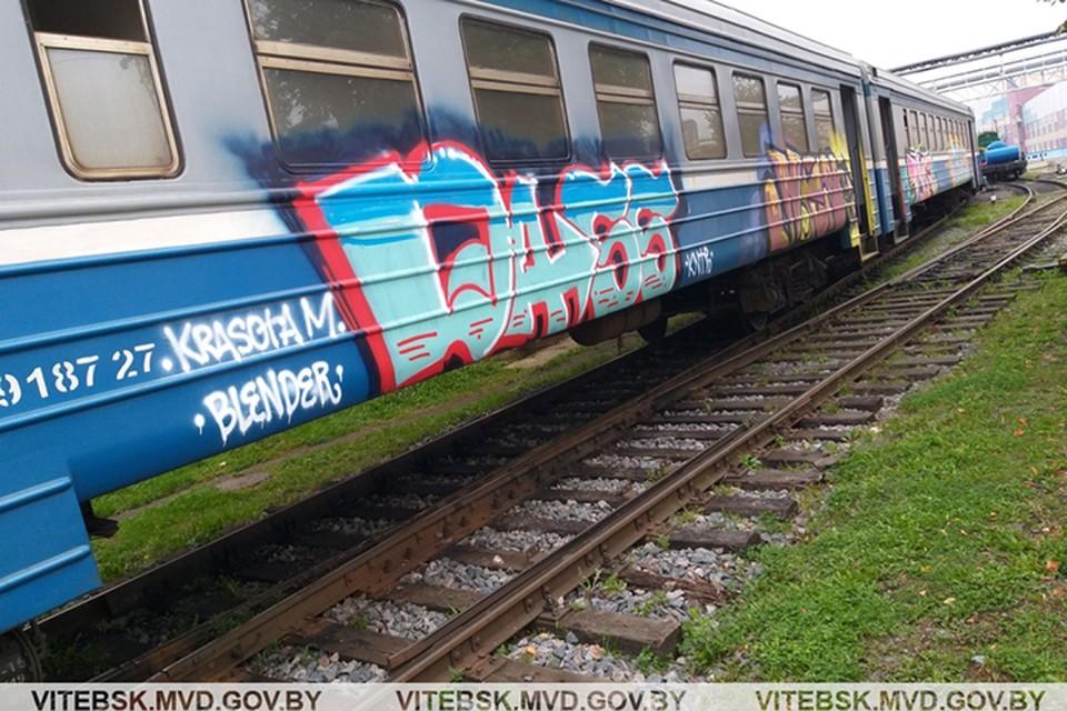 Группа граффитистов разрисовывала вагоны по всей стране. Фото: УВД.