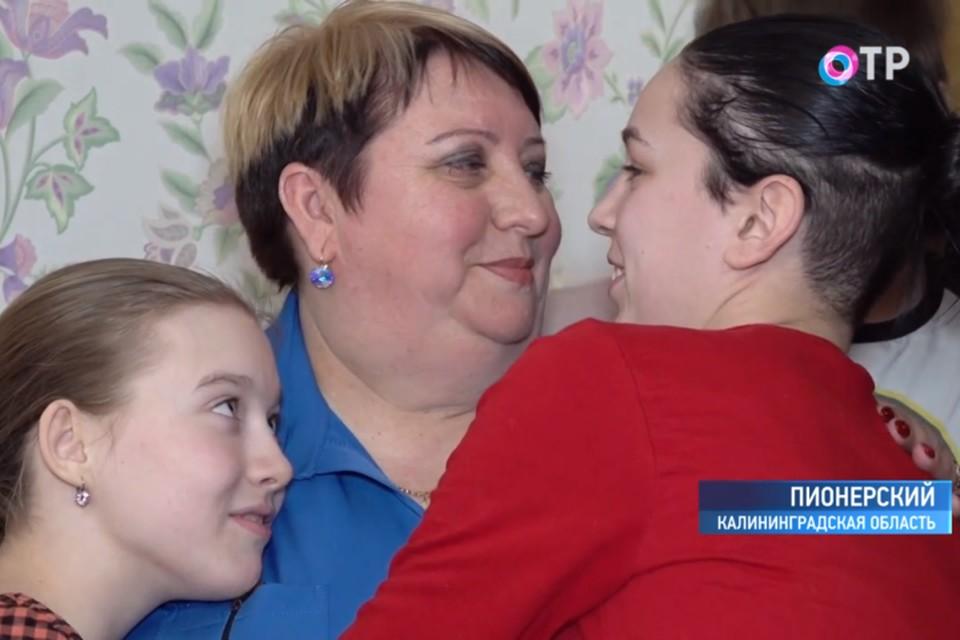 Лариса Морозова и ее дети счастливы вместе.