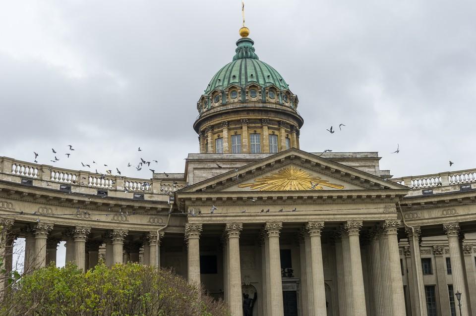 Реставрация восточного фасада Казанского собора завершена