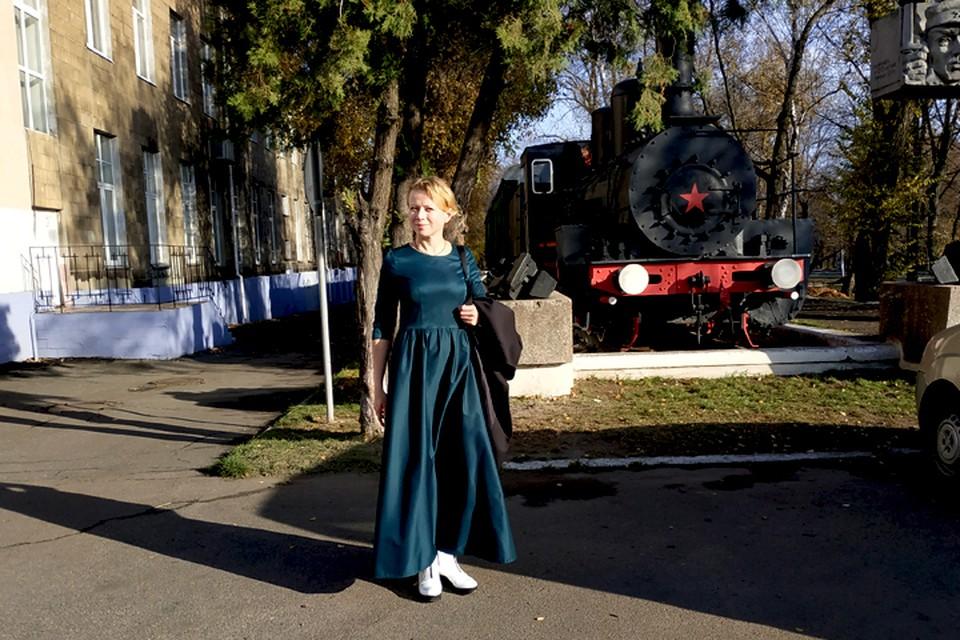 Перед выступлением в ДК железнодорожников в Ясиноватой
