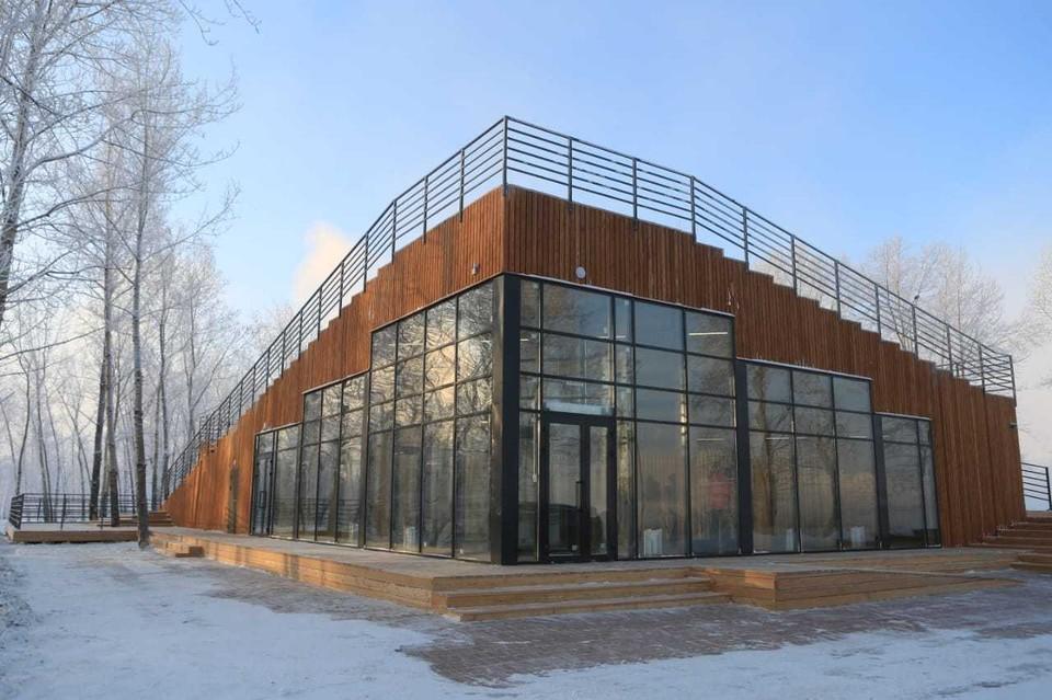 Визит-центр на Татышеве станет рестораном. Фото: пресс-служба администрации Красноярска.