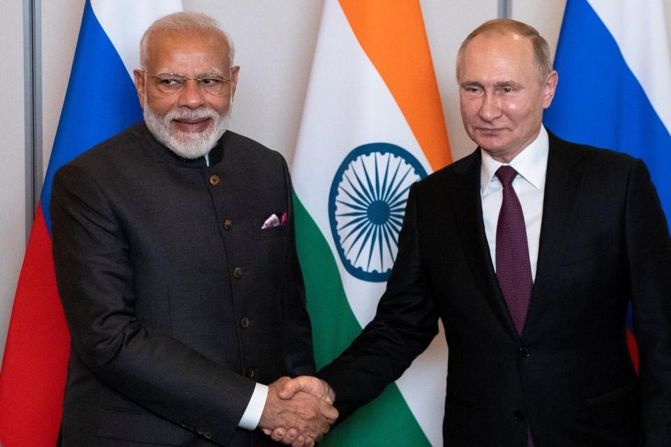 Нарендра Моди и Владимир Путин