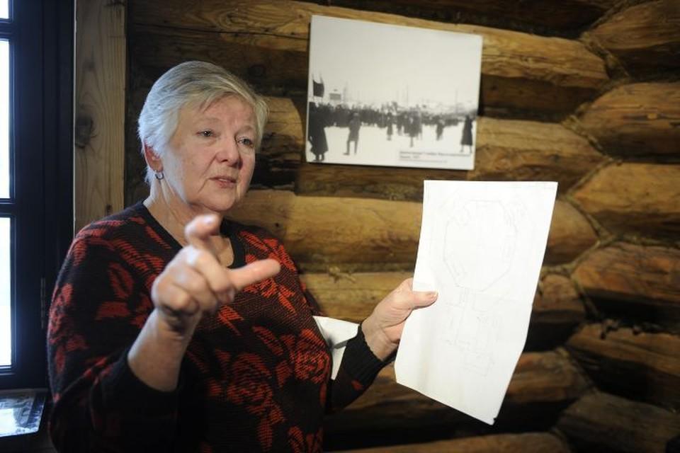 Людмила Перковская жила в башне с родителями и младшим братом с 1950 по 1958 год.