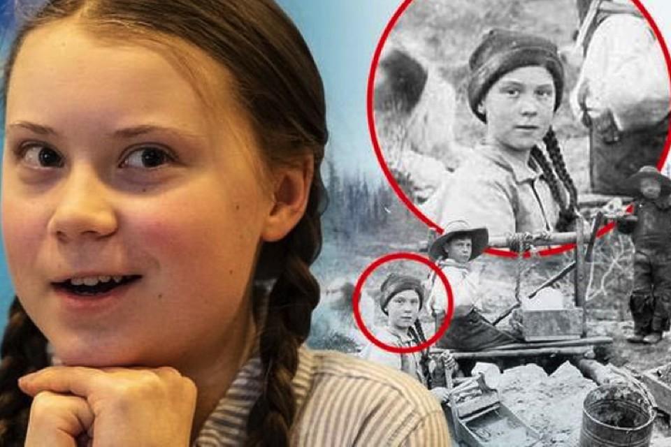 Грету узнали на фото 1898 года.